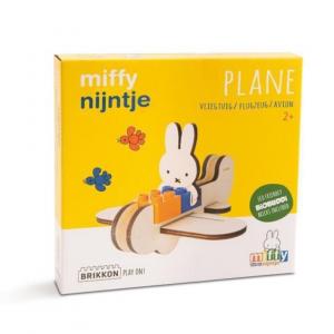 Avión Miffy - Brikkon BioBuddi BIG Bricks