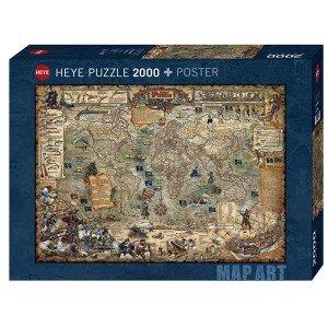 Puzzle Mapa Pirata + Póster - 2000 piezas
