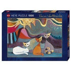 Puzzle Gatos y cinta amarilla