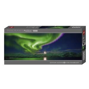 Puzzle Panorámico Auroras Boreales