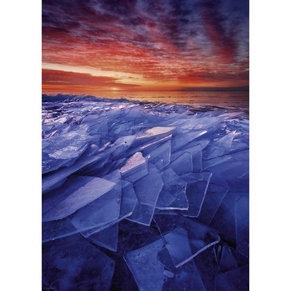 Puzzle Capas de Hielo en El Lago Superior - Minnesota