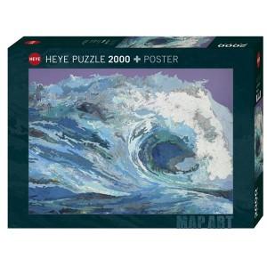 Puzzle Mapa convertido en ola - 2000 piezas
