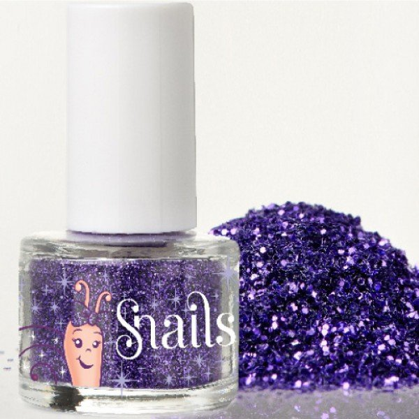 Brillo de uñas Azul Purpurina - SNAILS