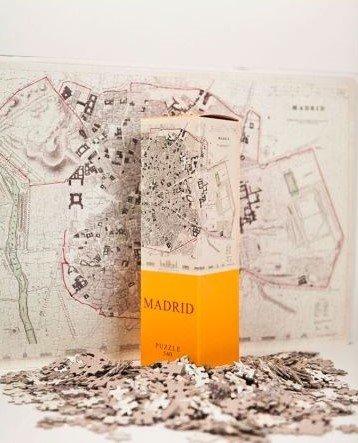 Puzzle Architoys Mapas Madrid Barcelona Pack España de 540 piezas
