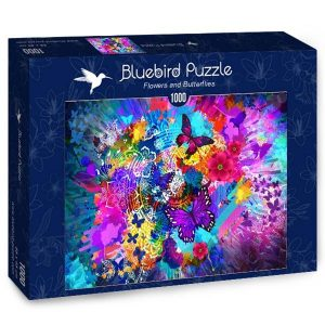 Puzzle Bluebird - Flores y mariposas - 1000 piezas