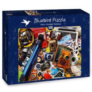 Puzzle Bluebird - Retro de la cámara de sobremesa - 1000 piezas