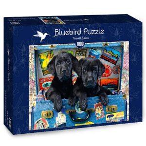 Puzzle Bluebird - Labradores de viaje - 1000 piezas
