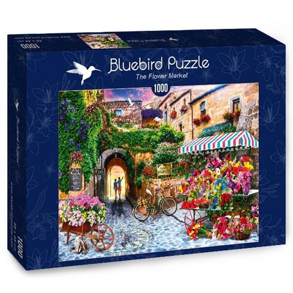 Puzzle Bluebird - El mercado de las flores - 1000 piezas