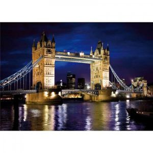 Puzzle DToys - Descubrir Europa: Tower Bridge, Londres - 1000 piezas