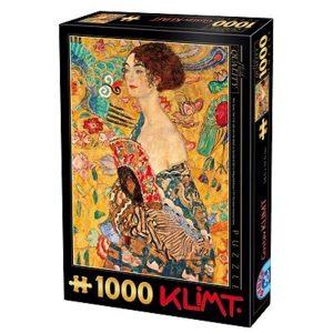 Puzzle DToys - Klimt: Mujer con abanico - 1000 piezas