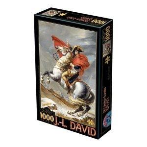 Puzzle DToys - David Jacques-Louis: Bonaparte que cruza las montañas - 1000 piezas
