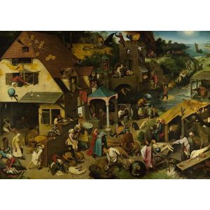 Puzzle DToys - Brueghel Pieter - proverbio flamenco - 1000 piezas