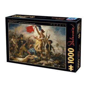 Puzzle DToys - Eugène Delacroix: Libertad guiando al pueblo - 1000 piezas
