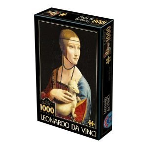 Puzzle DToys - Leonardo da Vinci: La dama con armiño - 1000 piezas