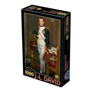 Puzzle DToys - Jacques-Louis David: Retrato de Napoleón en su gabinete de trabajo, 1812 - 1000 piezas