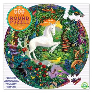 puzzle eeboo unicornio redondo 500 piezas EPZFUNG