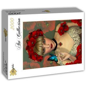 Puzzle Grafika - La mujer y la mariposa - 2000 piezas