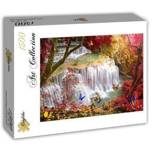 Puzzle Grafika - Cascada profunda del bosque - 1500 piezas