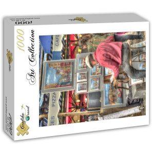 Puzzle Grafika - Artista callejero, París, Francia - 1000 piezas