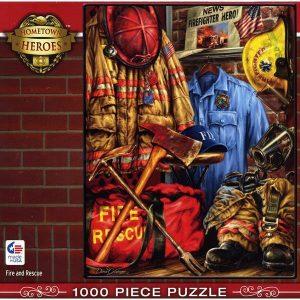Puzzle Master Pieces - Dona Gelsinger: Fuego y Rescate - 1000 piezas