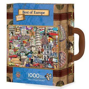 Puzzle Master Pieces - Puzzle en maleta - Lo mejor de Europa - 1000 piezas