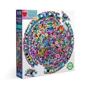 Puzzle redondo eeBoo Triangulos de 500 piezas
