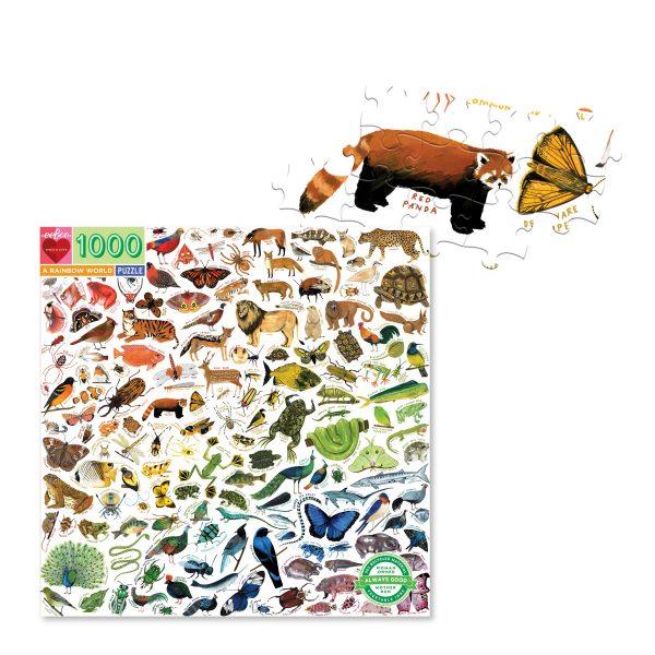 Puzzle eeBoo Mundo arcoíris de animales