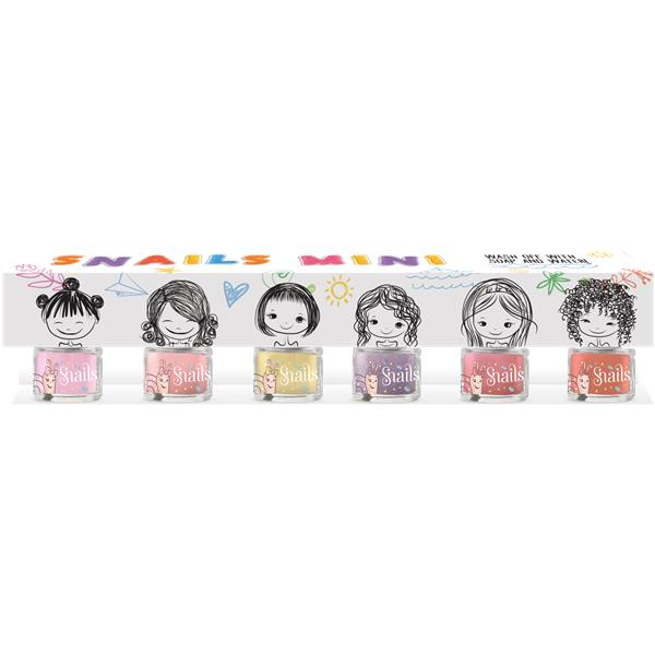 pack 6 esmaltes mini pack snails