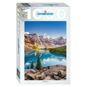 Puzzle Step Puzzle Canadá Lago Moraine de 1000 piezas
