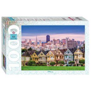 Puzzle Step Puzzle San Francisco Painted Ladies de 1000 piezas