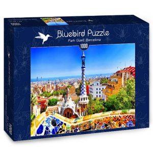 Puzzle Bluebird Barcelona Park Güell de 1000 piezas
