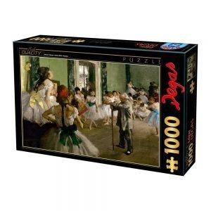 Puzzle DToys - Degas Edgar - Clase de baile - 1000 piezas