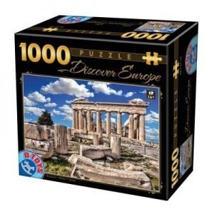 Puzzle DToys - Acropolis en Europa - 1000 piezas