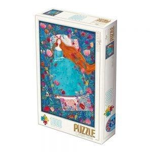 Puzzle DToys - Andrea Kürti - Bella durmiente - 1000 piezas