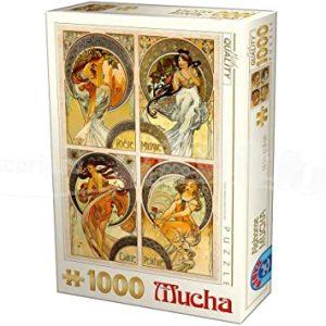 Puzzle DToys - Alfons Mucha - Artes - 1000 piezas