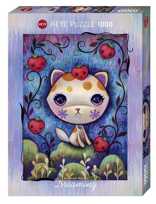 Puzzle Heye Gatitos y fresas Dreaming de 1000 piezas