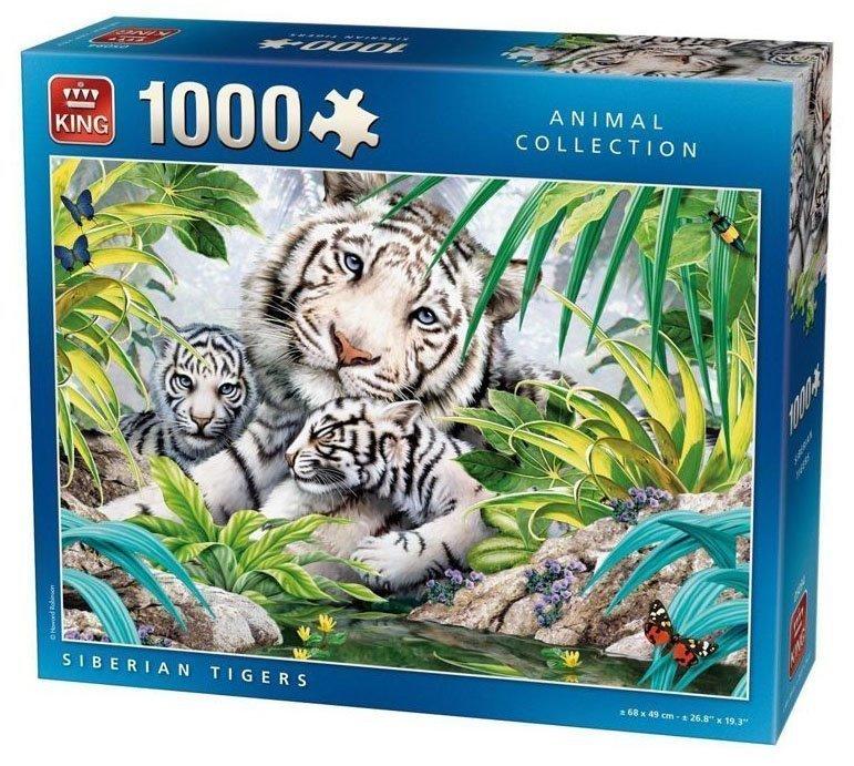 Puzzle King Tigre Siberia de 1000 piezas
