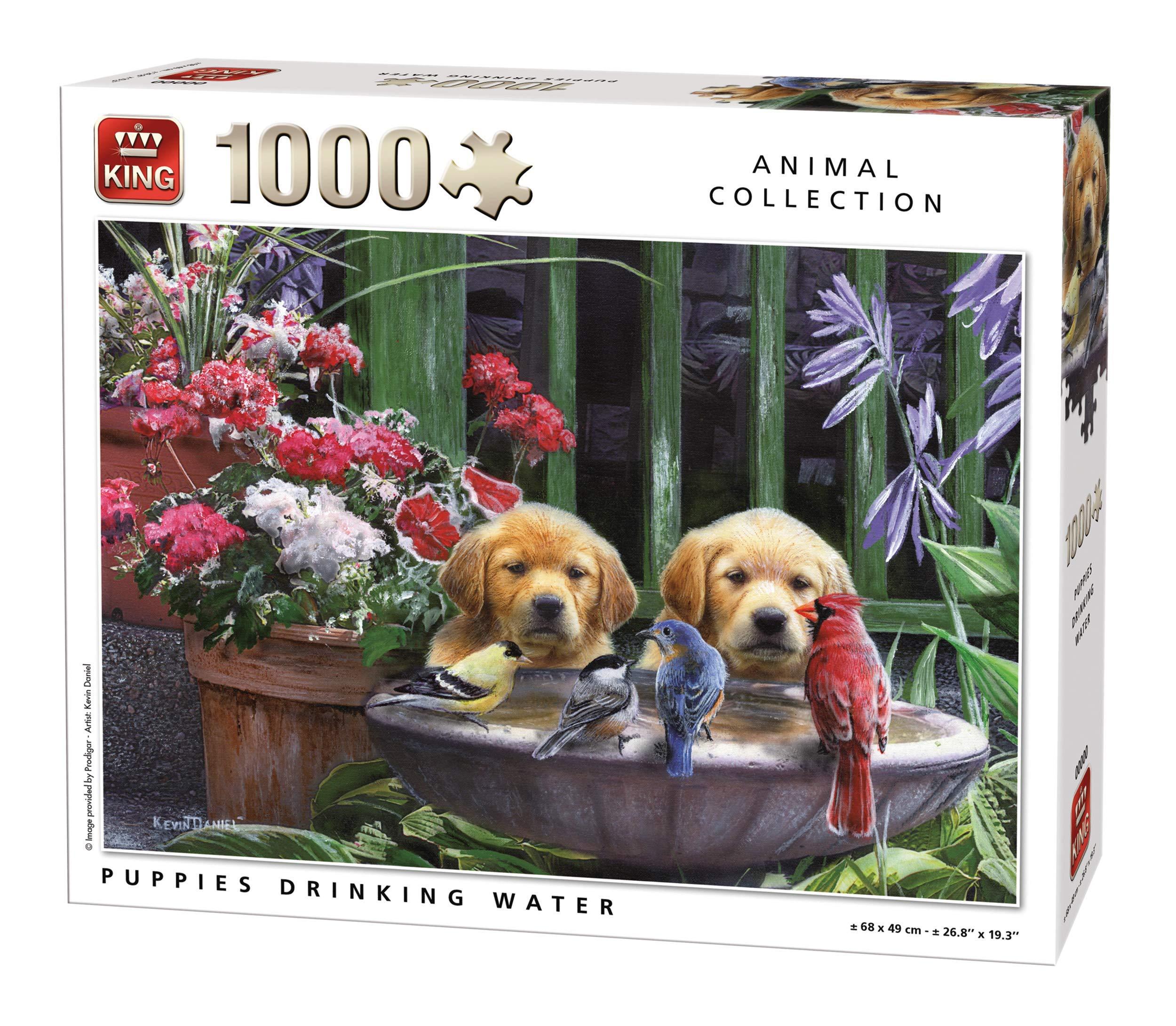 Puzzle King Cahorro Golden perro de 1000 piezas