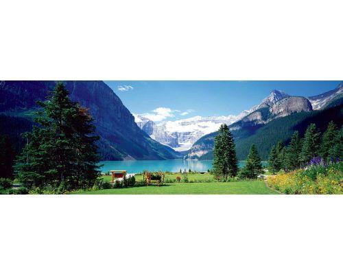 Puzzle Eurographics panorámico Lago Louise Canadá de 1000 piezas
