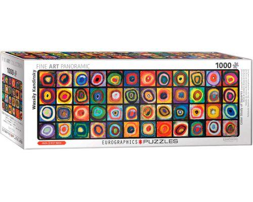 Puzzle Eurographics panorámico Estudio de colores Kandinsky de 1000 piezas