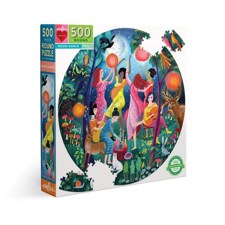 Puzzle redondo eeBoo Danza de la Luna de 500 piezas