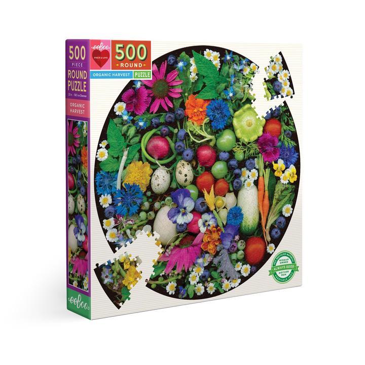 Puzzle redondo eeBoo Cosecha orgánica de 500 piezas