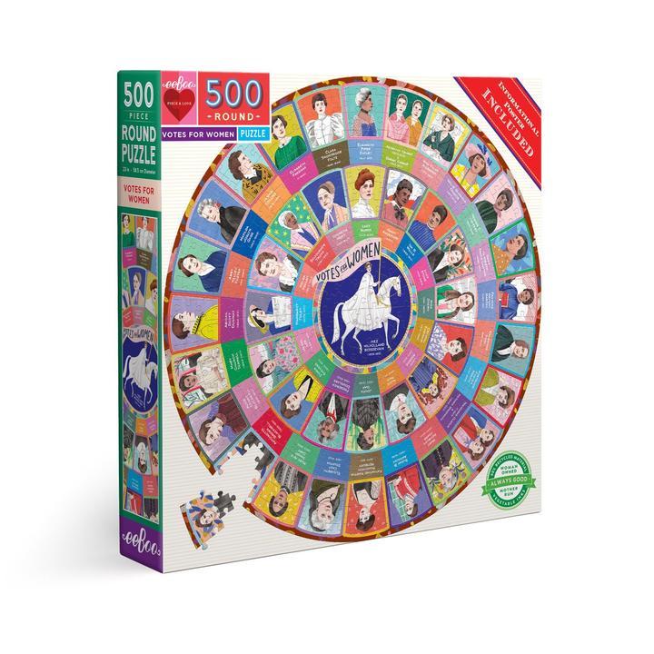 Puzzle redondo eeBoo Voto femenino de 500 piezas