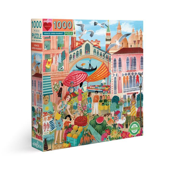 Puzzle eeBoo Mercado de Venecia de 1000 piezas