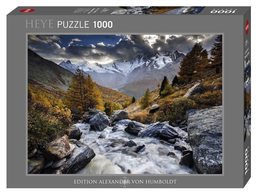 Puzzle Heye Montañas de los Alpes de 1000 piezas