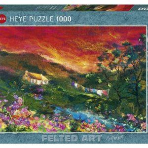 Puzzle Heye Paisaje Felted Art El Tendedero 1000 piezas
