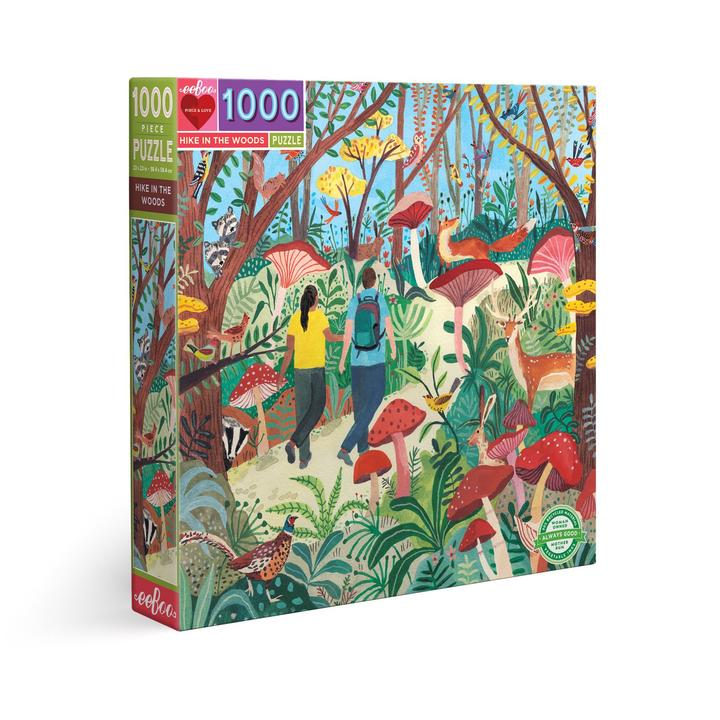 Puzzle eeBoo Paseo por el bosque de 1000 piezas