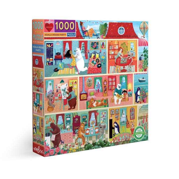 Puzzle eeBoo Koala House Party de 1000 piezas