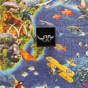 Pulsera unisex puzzle de cuerda azul