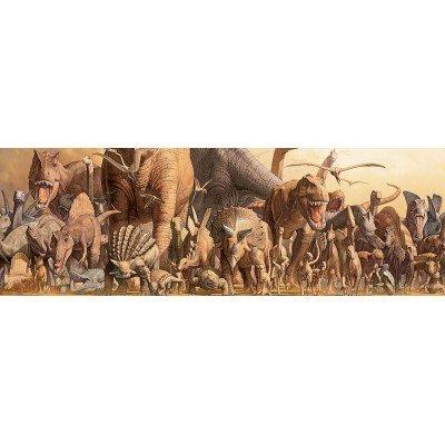 Puzzle Eurographics panorámico Dinosaurios de 1000 piezas